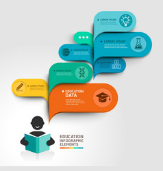 Education Infographics step option vector image