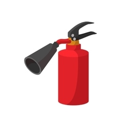 Fire extinguisher cartoon icon vector image