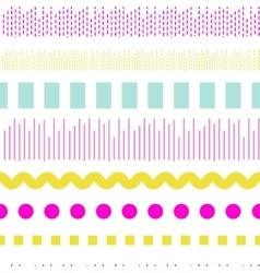 Geometric embroidery seamless pattern vector image vector image