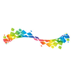 multicolor curve rainbow waved lines vector image vector image