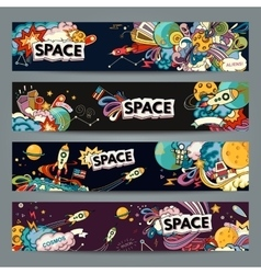 Space cartoon style vector image vector image