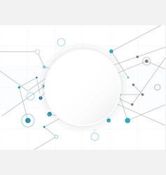 abstract white circle digital technology vector image vector image