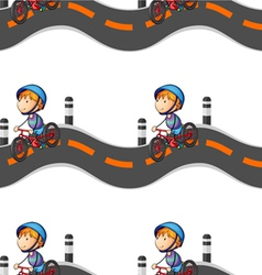 boy riding on bicycle vector image vector image