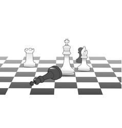 Chess king victory game strategy win vector