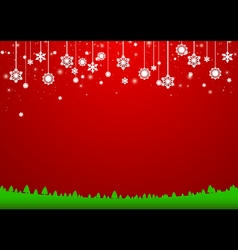 Christmas snowflakes background Paper style vector image vector image