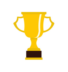 cup for win icon flat style vector image