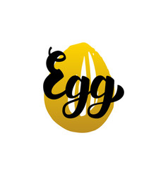 egg handwritten lettering vector image vector image