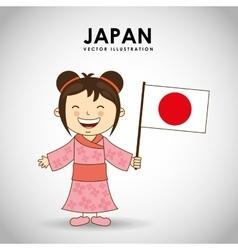 japanese kid vector image