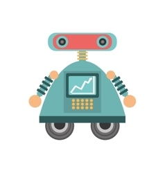 robot android automation icon vector image