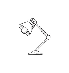 Table lamp sketch icon vector image