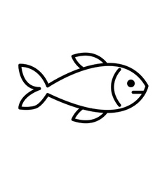 fish meat isolated icon design vector image