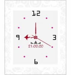 floral clock vector image vector image