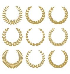 laurel wreaths 1 vector image vector image