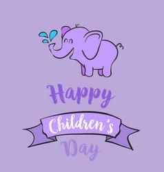 Cartoon children day celebration style vector