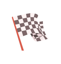 checkered flag for the race start signal racing vector image