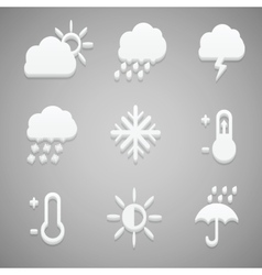 Creative concept Flat Icon Set of weather vector image