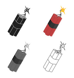 dynamite icon cartoon singe western icon from the vector image