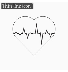 electrocardiogram icon Style thin line vector image