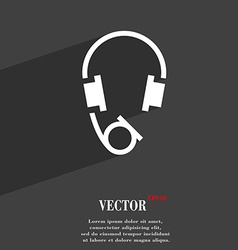 headsets icon symbol Flat modern web design with vector image