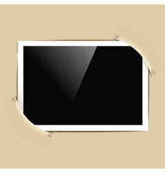 photo frame in album vector image vector image