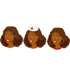 profession women avatars set vector image vector image