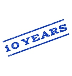 10 Years Watermark Stamp vector