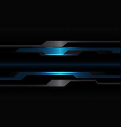 Abstract blue black metallic cyber geometric vector