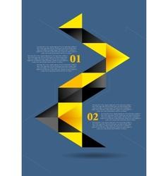 Abstract flat geometric infographics design vector