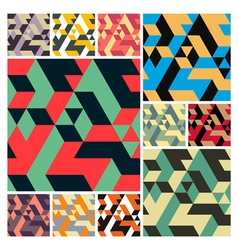 Abstract Geometrical 3d Background set vector