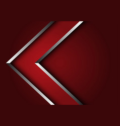 Abstract red silver line arrow direction design vector