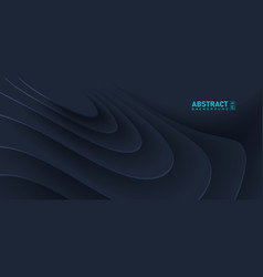 abstract ripple effect on dark blue background vector image