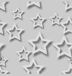 Abstract seamless pattern stars with shadows vector