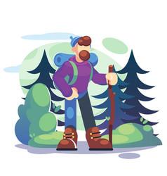 Active lifestyle tourism concept a young man vector