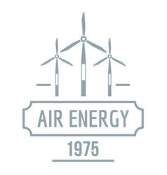 air energy logo simple gray style vector image
