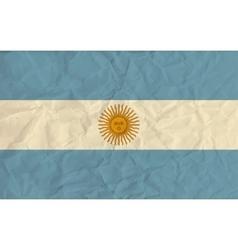 Argentina paper flag vector