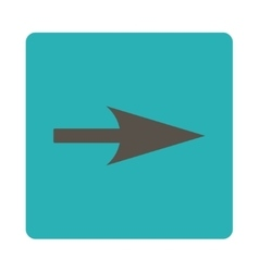 Arrow Axis X flat grey and cyan colors rounded vector