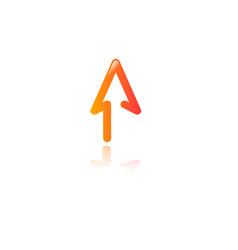 arrow icon minimal design concept creative apps vector image