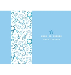 Baby boys horizontal frame seamless pattern vector image