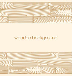 Beige background with two seamless wooden borders vector