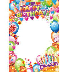 birthday card with place for text vector image