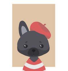 black french bulldog vector image