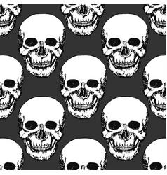 black skulls print skull pattern hand drawn vector image