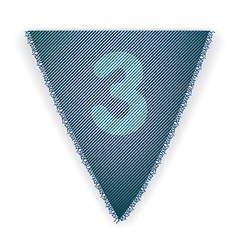 Bunting flag number 3 vector