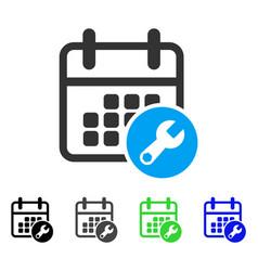 Calendar setup flat icon vector