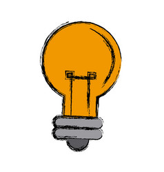 Cartoon bulb light creativity illumination vector