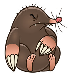 cartoon mole pest vector image