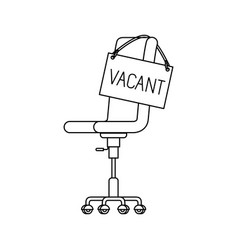 Chair with vacant poster hanging icon vector