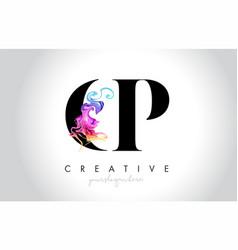 Cp vibrant creative leter logo design vector
