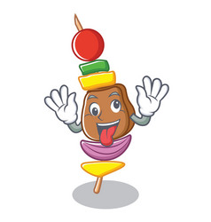 crazy barbecue character cartoon style vector image