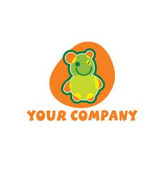 cute bear mascot vector image